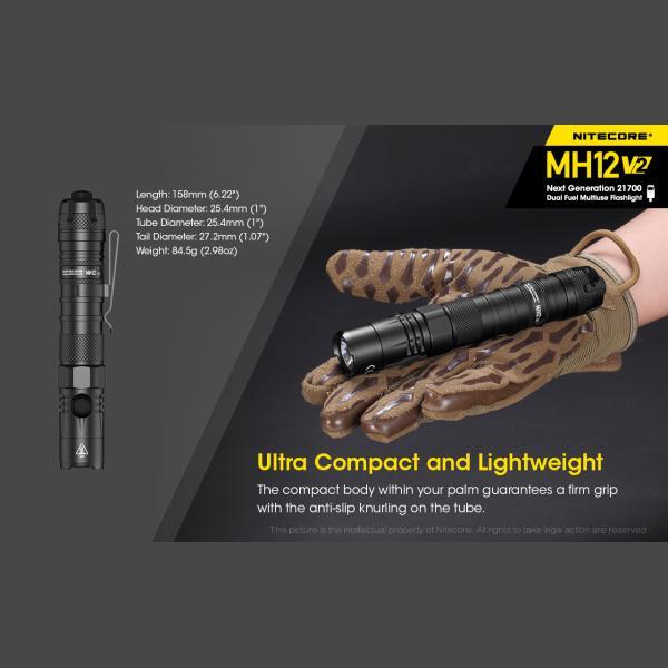 NITECORE MH12 v2 Φακός LED Multi Task Hybrid, 1200lm 19