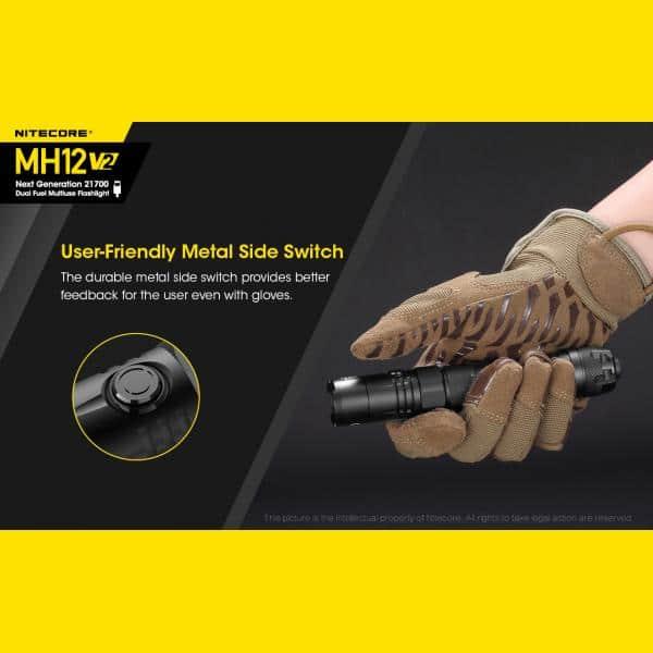 NITECORE MH12 v2 Φακός LED Multi Task Hybrid, 1200lm 24