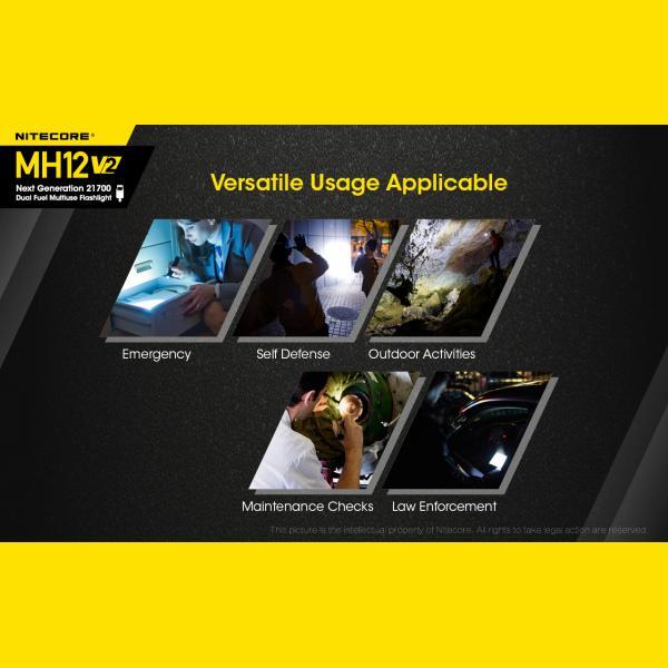 NITECORE MH12 v2 Φακός LED Multi Task Hybrid, 1200lm 4