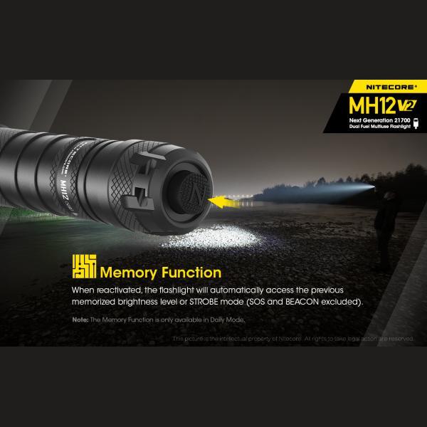 NITECORE MH12 v2 Φακός LED Multi Task Hybrid, 1200lm 5