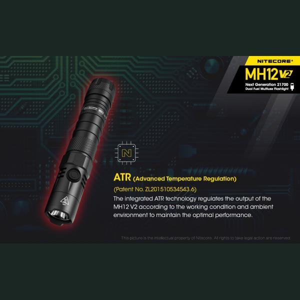 NITECORE MH12 v2 Φακός LED Multi Task Hybrid, 1200lm 13
