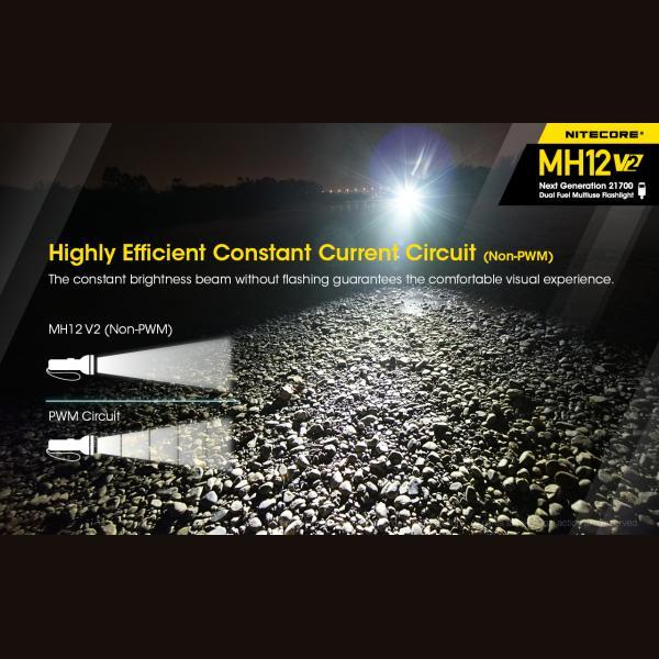 NITECORE MH12 v2 Φακός LED Multi Task Hybrid, 1200lm 6