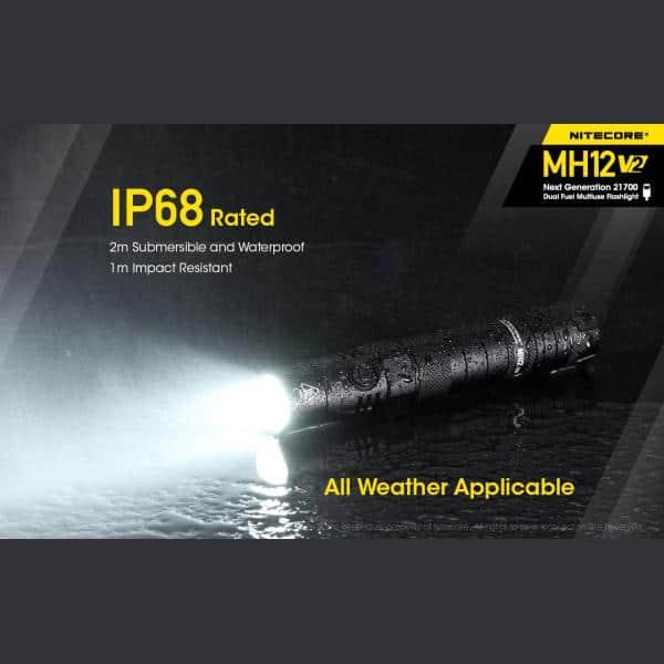 NITECORE MH12 v2 Φακός LED Multi Task Hybrid, 1200lm 7