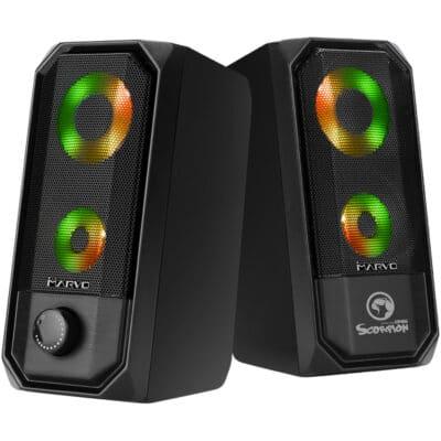 MARVO SG-265 2.0 Stereo LED Gaming Speakers