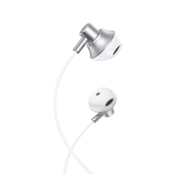 HOCO M75 Belle wired earphones with mic, silver