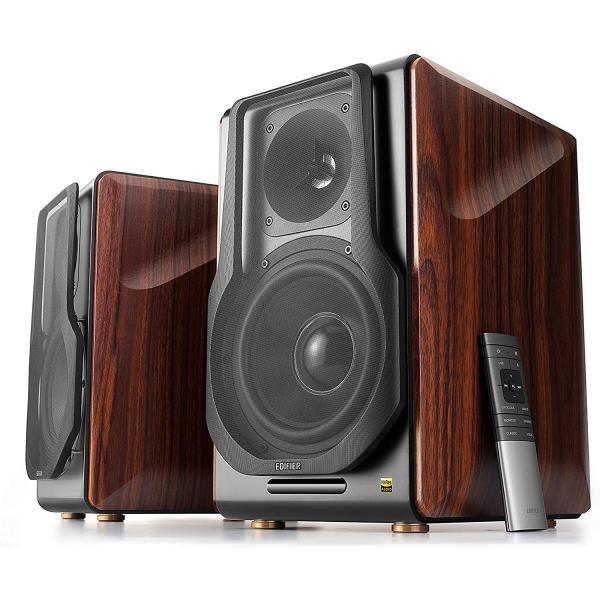 EDIFIER S3000Pro Powered Wireless Bookshelf Speakers 256W Brown
