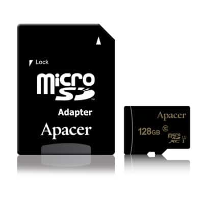 APACER MicroSDXC 128GB UHS-I Class 10 80MB/s with adapter