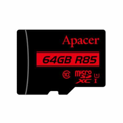 APACER MicroSDXC 64GB UHS-I Class 10 R85 with adapter