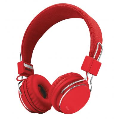 Trust Ziva Foldable Headphones for smartphone and tablet - red (21822)