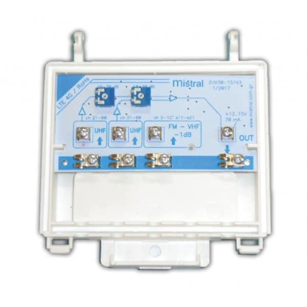 MISTRAL 2UVFM 30dB Ενισχυτής Ιστού με 2 εισόδους UHF (224001)