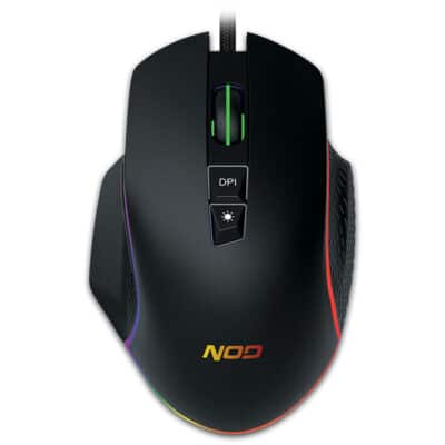 NOD RUN AMOK Wired 7D Gaming Mouse with RGB Running LED Light