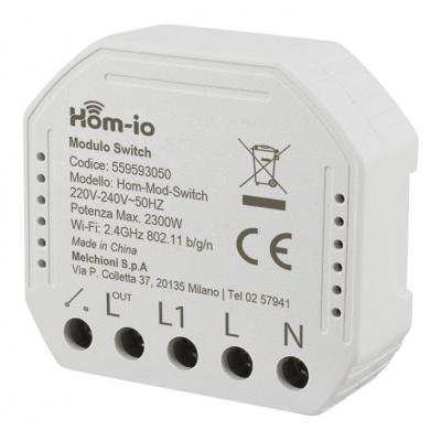 HOM-IO Smart WiFi Διακόπτης 10A 1 Κανάλι (65450)