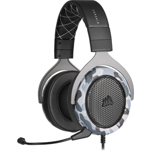 CORSAIR HS60 HAPTIC Stereo Gaming Headset with Haptic Bass, Camo