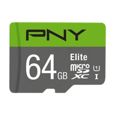 PNY Κάρτα μνήμης microSDHC, Class 10 UHS-I U1, 64GB, 100MB/s με αντάπτορα SD P-SDUX64U185GW-GE