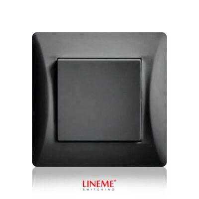 LINEME Διακόπτης Απλός Μαύρος (50-00101-2)