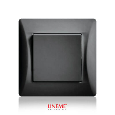 LINEME Διακόπτης Απλός Αλερετούρ Μαύρος (50-00102-2)