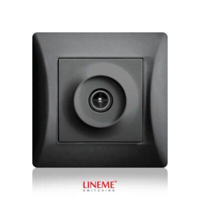 LINEME Πρίζα TV Τερματική με Υποδοχή Αρσενική Μαύρη (50-00116-2)