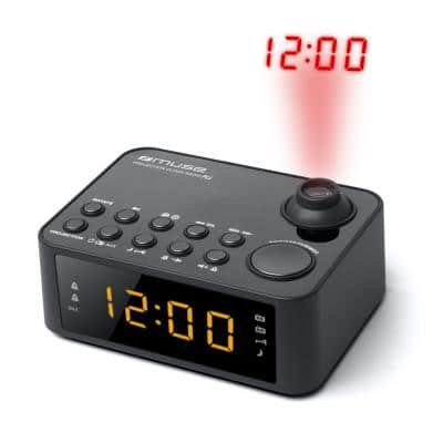 MUSE M-178 P Projection Clock Radio PLL, Black