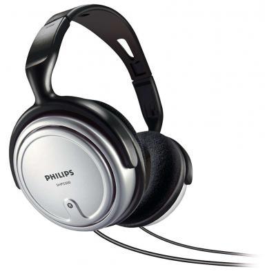 Philips SHP2500 Ακουστικά Stereo TV 3.5mm Ασημί - Μαύρo με Καλώδιο 6m