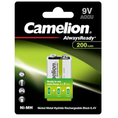 Camelion 9V 200mAh Επαναφορτιζόμενη μπαταρία Ni-MH AlwaysReady (1τμχ.) NH-9V200ARBP1