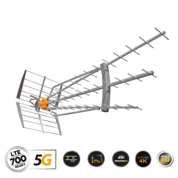 TELEVES DAT-75 T-FORCE Κεραία UHF 5G LTE HD BOSS LR (149721)