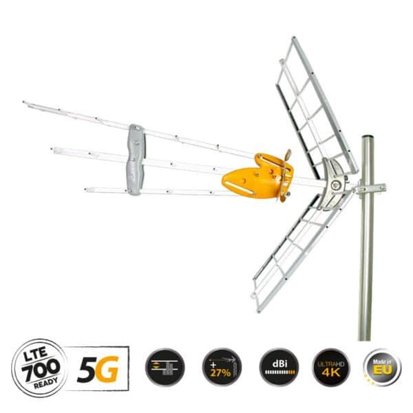 TELEVES 149921 DAT-45 T-Force Κεραία UHF 5G LTE HD Boss