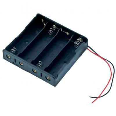 BATTERY CASE 18650 4C Θήκη 4 θέσεων για μπαταρίες 18650 με καλώδια σύνδεσης