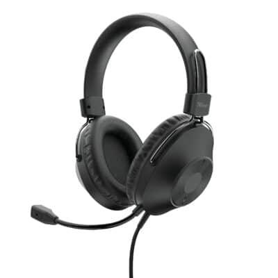 TRUST OZO Over-Ear USB Headset - Μαύρο (24132)