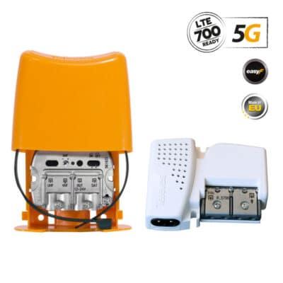 TELEVES 438620 NanoKom Kit Ενισχυτής Ιστού 5G LTE + PSU 12V UHF/VHF/SAT