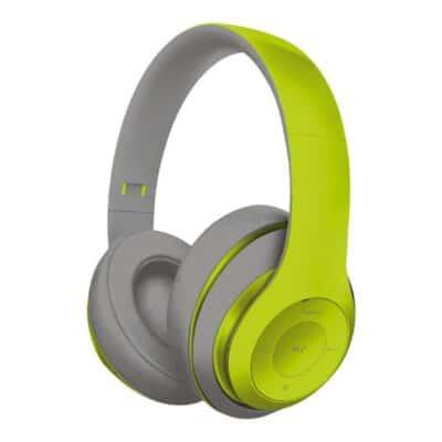 FS Ασύρματα Ακουστικά Bluetooth με Μικρόφωνο Γκρί - Πράσινο FH0916GG