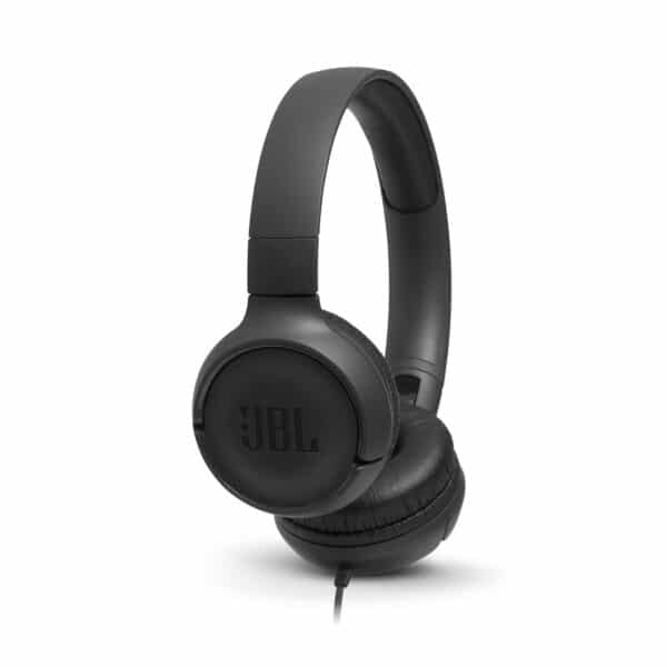 JBL Tune 500 OnEar Universal Headphones 1-button Mic/Remote Black