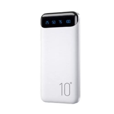WK Design WP-161 10000mAh Minre Digital Display Power Bank, White