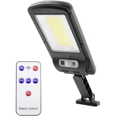 ENTAC Επιτοίχιο Ηλιακό Φωτιστικό LED 5W 500lm COB με Ανιχνευτή Κίνησης και Τηλεχειρισμό (ESLP-COB-R)