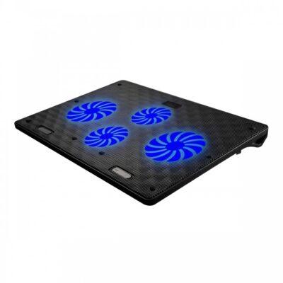 "OMEGA Laptop Stand Cooler Pad 10""-18"" 4 Fans OMNCP4FB"