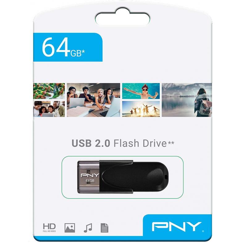 PNY 64GB USB 2.0 Flash Drive FD64GATT4-EF
