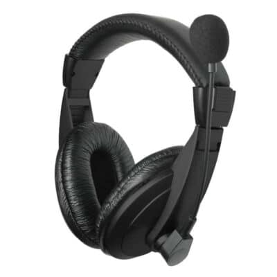 WELL Stereo On-Ear Headset with Microphone (HEADSET-S01BK-WL)