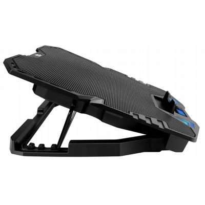"""OMEGA OMNCP5R Laptop Stand Cooler Pad 9""""-17"""" with Red Backlight"""