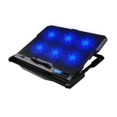 """OMEGA OMNCP6F Laptop Stand Cooler Pad 10""""-17"""" with Backlight"""