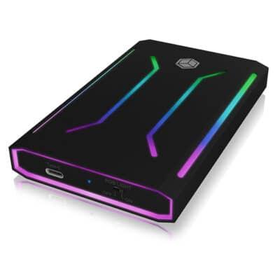 """ICY BOX IB-G226L-C31 Εξωτερική RGB θήκη αλουμινίου για HDD & SSD 2,5"""" SATA"""