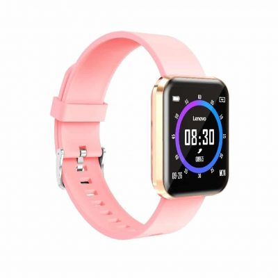 "Lenovo E1 Pro Smartwatch IP67 180mAh V4.2 1.33"" Gold Silicon Band"