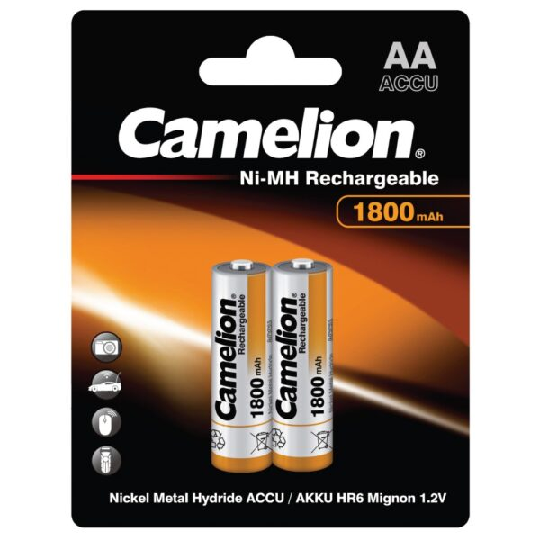 Camelion AA HR6 1.2V 1800mAh Επαναφορτιζόμενες Μπαταρίες NH-AA1800BP2 (2τμχ.)