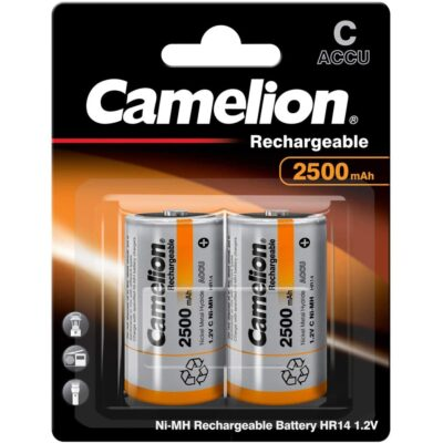 Camelion HR14 1.2V C 2500mAh Επαναφορτιζόμενη Μπαταρία Ni-MH (NH-C2500BP2)