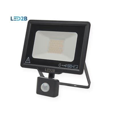 LED2B 30W 2400lm 6000k Προβολέας LED με Ανιχνευτή Κίνησης