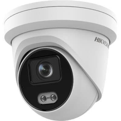 HIKVISION DS-2CD2347G2-L(C) Κάμερα IP Dome AcuSense Darkfighter 4MP, 2.8mm και λευκό φως 30m